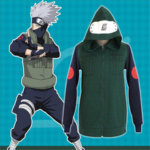 Free Delivery 2017 Japanese anime Naruto Kakashi Zip-Up Hoodie Kakashi Hoodies Anime re-make Jacket(China)