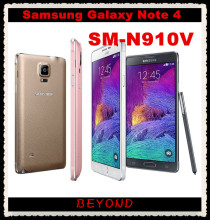 "Samsung Galaxy Note 4 N910V Verizon Original Unlocked 4G LTE GSM&CDMA Android Mobile Phone Octa Core 5.7"" 16MP RAM 3GB ROM 32GB(China)"