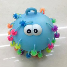 Kids ADHD Autism Flush Snowflake Hair Ball 5 Inch Fiddle Needs Elasticity Toy(China)