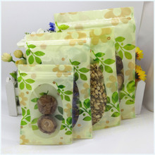 Buy 100pcs/lot 12*20cm 16*24cm Tea Snack Clear Ziplock Packaging Bags Green Leaf Heat Seal Plastic Valve Resealable Bag for $9.46 in AliExpress store