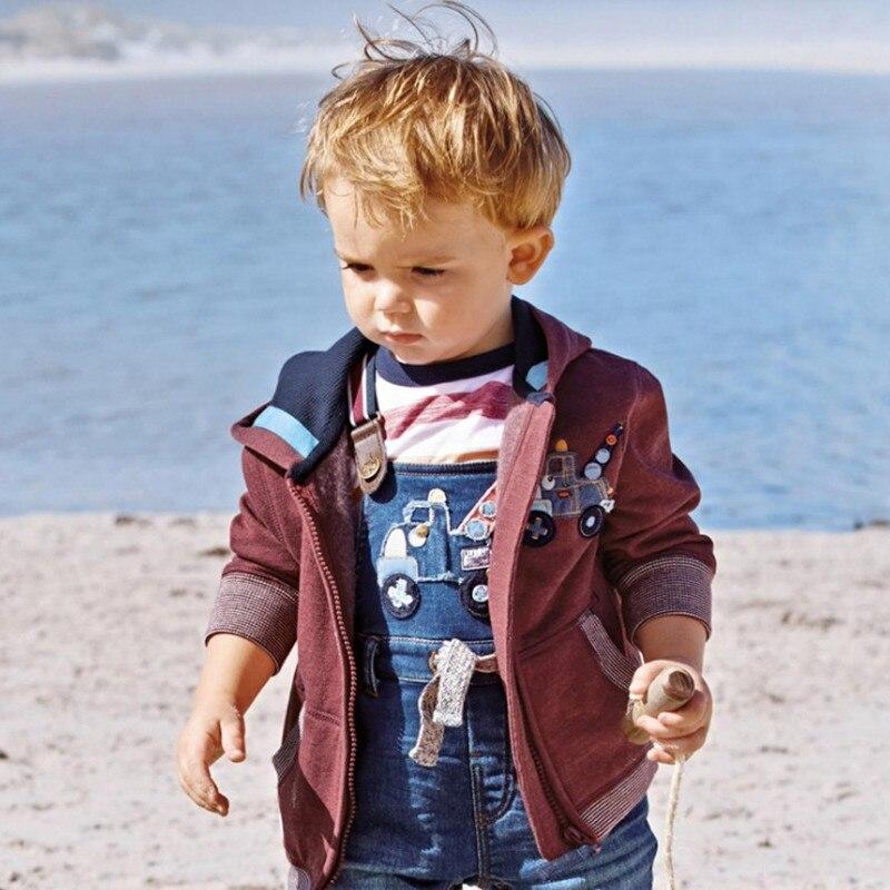 Little maven 2017 spring winter boys brand clothes children warm Hoodies &amp; Sweatshirts Crane embroidered fleece WY098<br>