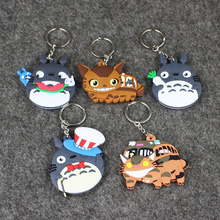 My Neighbour Totoro Cat Bus PVC Figures Keychains Pendants Toys 8cm 5 Styles for Boys and Girls 5pcs/lot