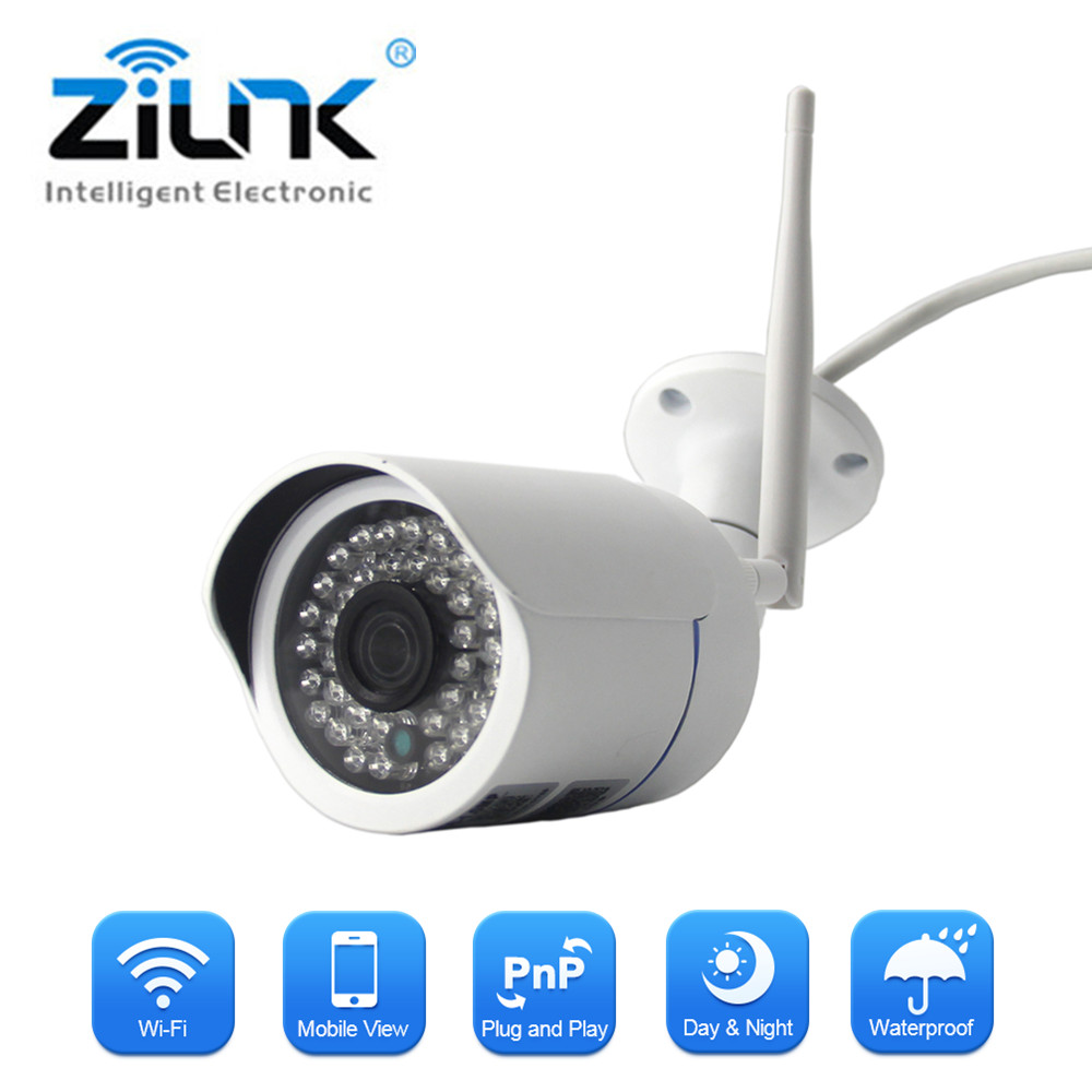ZILNK WIFI Camera Waterproof Outdoor 1.0MP HD IP Camera Wireless Network TF Card CCTV Surveillance Camera <br>
