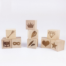 PINJEAS diy crafts Accessories Original Wooden 9pc 4cm Wood Cubes solid wood Health Safe Home Decor Toddler toys Ornaments