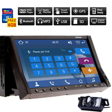 "Navigation Auto Car DVD Player 7"" Receiver Accessory Radio PC iPod SD Movie System CD Autoradio Music GPS Stereo(China)"