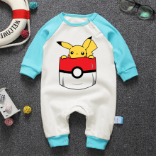 Newborn Baby Romper Brand Infant Cotton Long Sleeve Cartoon Pikachu Baby Clothes Boy Girl Romper Spring Autumn Jumpsuit