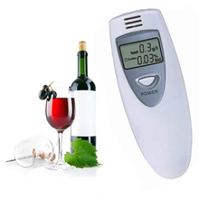1pcs Professional LCD Alcohol Tester Portable Police Digital Alcohol Detector Breathalyzer Breath Analyzer Alcohol Tester(China)