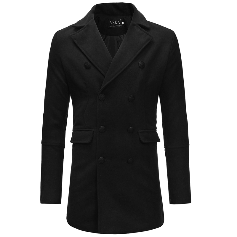 MarKyi fashion double breasted winter trench coat men pocket long sleeve men overcoat styles man coat trench