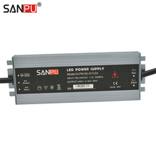 SANPU 24 Volt Switching Mode Power Supply 100W AC to DC 24VDC Lighting Transformer 24V LED Driver Waterproof IP67 Aluminum Slim(China)