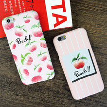 LOVECOM Cartoon Delicious Fruit Case For iphone 5S 5 SE 6 6S Plus 7 7Plus Cute Juicy Peach Hard PC Phone Cases Back Cover Coque