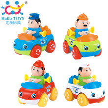 8PCS/Lot HUILE TOYS 356C Friction Power Professional Car 8 pcs Inertia Vehicle Toys Baby Brinquedos for 18M+ Kid(China)