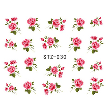 1 sheet NEW Beauty Rose Design DIY French Tips Nail Art Sticker Nails Decal Decorations Manicure Water Transfer Tools TRSTZ030