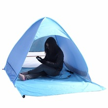 Newest Beach Tent Ultralight Folding Tent Pop Up Automatic Open Tent Family Tourist Fish Camping Anti-UV Fully Sun Shade(China)