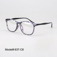 637 Woman's cat eye plastic colorful myopia eyewear RX eyeglasses spectacles optical frames(China)