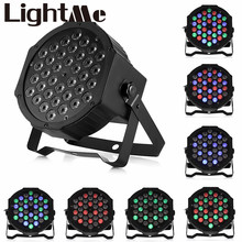 2017 Professional LED Stage Lights 36W RGB PAR LED DMX Stage Lighting Effect DMX512 Master-Slave Led Flat for DJ Disco Party KTV