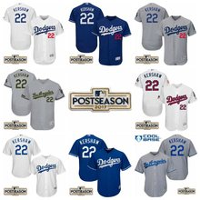 MLB Men's Los Angeles Dodgers 22 Clayton Kershaw 2017 Postseason Patch Authentic Baseball Jersey(China)