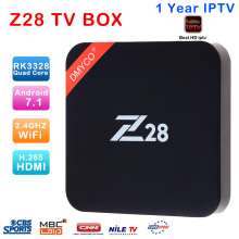 Z28 Android 7.1 TV Box 2G RAM 16G ROM RK3328 Quad core 2.4GHz WiFi H.265 HDMI Set Top Box Support 4K USB3.0 Smart Media Player