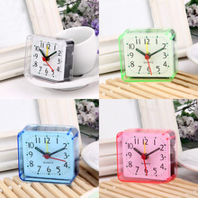 Hot 1Pc New Home Outdoor Cute Candy Colors Cartoon Multi-function Trip Bed Beep Desktop Alarm Clock Mini Portable Table Clocks