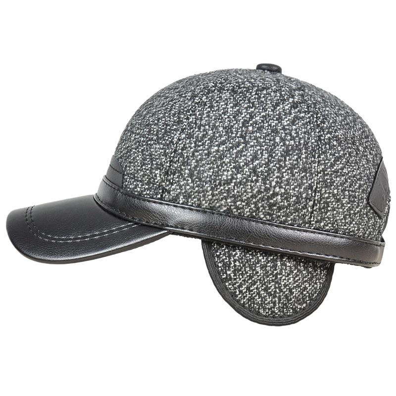 356db12120075 Pudi Mens Faux Leather Baseball Cap Hat Brand New Winter Warm ...