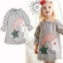 0-5Y Baby Girls Kids tassel bottom dress Casual Xmas Cotton Tutu Dress Clothes Christmas Santa Claus
