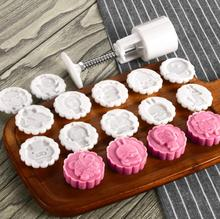 50g Chinese Zodiac 12+1 animal mooncake mold set fondant cake candy baking tools plastic hand pressing moon cake mould