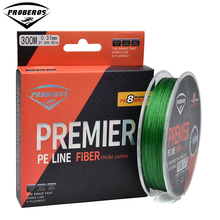 300M 8 Stands PE Fishing Line Green/Yellow/Black Color 8 Weaves Braided Line Available 40LB-300LB PE Line New Package(Hong Kong)