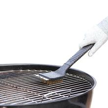 Outdoor Cooking Dining Bar Churrasco BBQ Barbecue Oven Grill Wire Cleaner Cleaning Steel Brushes Brush Scraper Tools Accessories(China)
