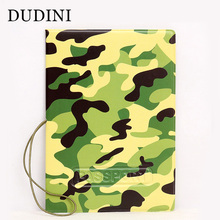 DUDINI Creative Design Women & Men Passport Cover PVC Soft Travel Tickets Passport Case Army Green 3D Passport Holder Bag(China)