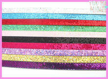 Wholesale 100pcs 10mm Wide 1meter Length Mixed Color Sequins PU Leather Strips Fit 10mm Slide Charms & Letters