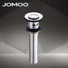JOMOO Chrome Finish Bathroom Lavatory Sink Pop Up Drain With Overflow Spillway Hole Basin Sink Use Bathroom Products Accessories(China)
