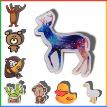 Kawaii Icon Harajuku Cute Horse Badge Acrylic Brooch For Women/Man Clothes Badge Decorative Rozet Collar Scarf Lapel Pin Broach