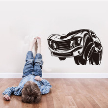 DCTOP New Design Muscle Car Art Decals Wall Stickers Home Decor For Kids Rooms Vinyl Removable Living Room Wall Decoration