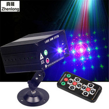 Premium Red Blue Green Laser Lamp KTV Room Bar DJ disco lamp Decoration Spotlight Light 3 Hole 48 Pattern Stage LED(China)