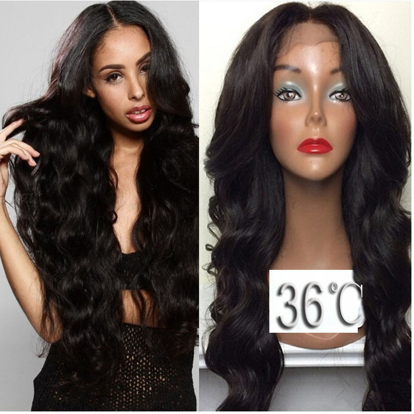 36 Full lace human hair wigs for black women Glueless full lace wigs Peruvian virgin hair straight human hair lace front wigs<br><br>Aliexpress