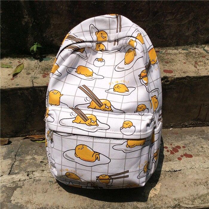 Anime gudetama Cosplay Student bag female canvas shoulder bag animation backpack birthday gift<br>
