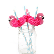12pcs /lot Flamingo Christmas Decoration Paper Drinking Straws Christmas Party Suppliers penis straws(China)
