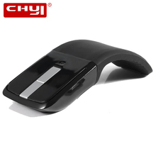 CHYI Wireless Mouse Microsoft ARC Touch Foldable Mouse 2.4Ghz 1600 DPI Ultra thin Optical Fold Mice For PC Laptop Desktop(China)