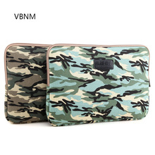 VBNM 10 11 12 13 14 15 Inch Cool Camouflage Laptop Sleeve Waterproof Sleeve Pouch Bag Tablet Case Cover for Macbook ASUS Lenovo(China)