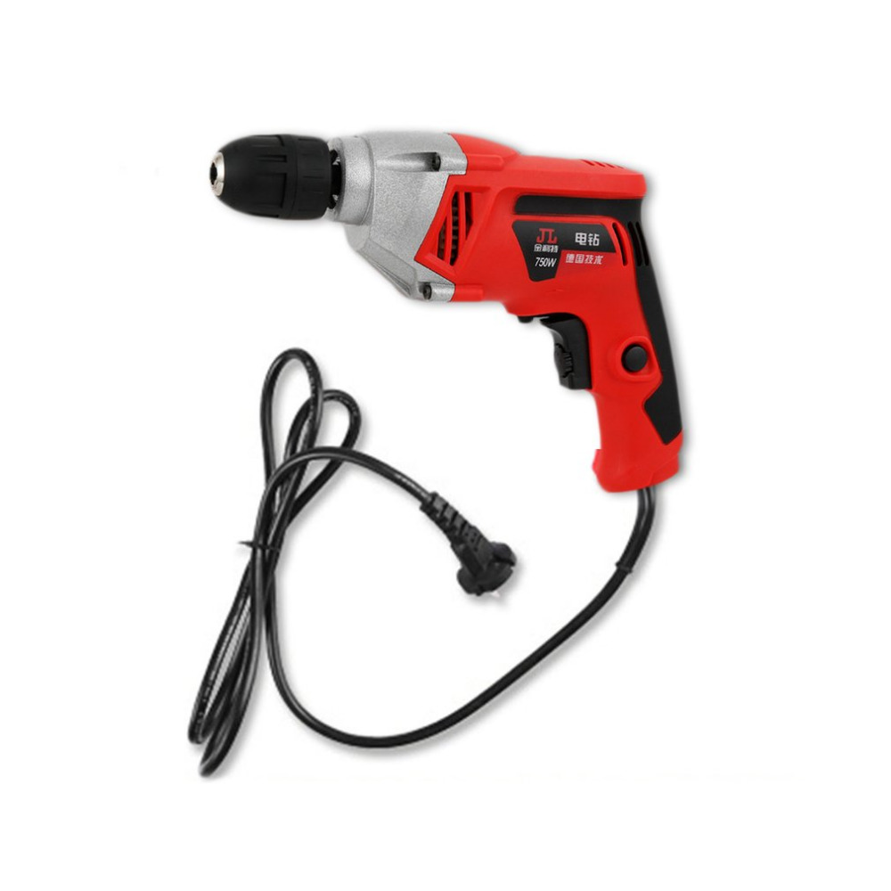 Handheld 10MM 220V 50Hz 750W Aluminum Durable Drill High Power Torque Electric Hammer Drill 2000RPM Adjustable Speed<br>