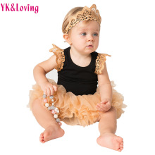 Elegant Princess Girls Pettiskirt  Baby Clothing Sets Tutu Skirt Clothes Embroidery Baby Romper 2017 Fashion Fluffy Soft Tulle