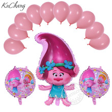 Buy 13pcs Trolls balloon Birthday Party Decoration Trolls Poppy Foil Balloon Latex ballon Wedding Decorations Party Supply Kids Toys for $3.12 in AliExpress store