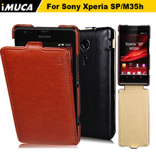 iMUCA Phone Case For Sony Xperia SP Case Cover Luxury Flip Leather Case Protective Back Cover For Sony Xperia SP C5303 C5302(China)