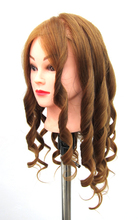 Free Shipping Mannequin Maniqui 35% Mixed Human Hair Fiber Training Female Mannequin Wig Head With Stand(China)