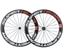 700C 60mm Road Bicycle Carbon Wheels Clincher 23mm width T1000 full carbon China Chinese bike wheelset Free shipping
