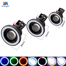 1Set(2PCS) 10W Projector Halo Rings 2.5Inch 3Inch 3.5Inch 12V DC 3200LM COB Fog Lamps Fog Lens Angle Eyes Fog Lights Car Styling(China)