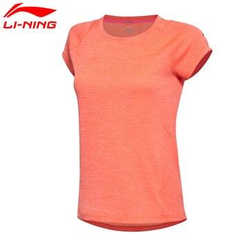 Li-Ning Women's Jogging Running T-Shirt Comfort Breathable Quick Dry 100% Polyester Sports Tee ATSM188 MTS2011