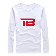 2017 Autumn Winter #12 Tom Brady TB Logo New England Men T-Shirt Long Sleeve Tees T SHIRT Patriots Men's Fashion W1031010