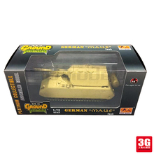 easy model 1/72 scale miniature military 36206 scale tanke vehicle GERMAN MAUS TANK assembled model scale military toys(China)