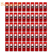Saingace 50 PCS Clear Sewing Craft Quilt Binding Plastic Clips Clamps Pack Bag Clips IUT6523 photo hanging(China)