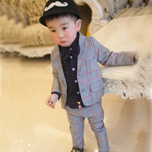 2017Retro gentleman style custom made suits tailor suit Blazer suits for boy 2 piece (Jacket+Pants)